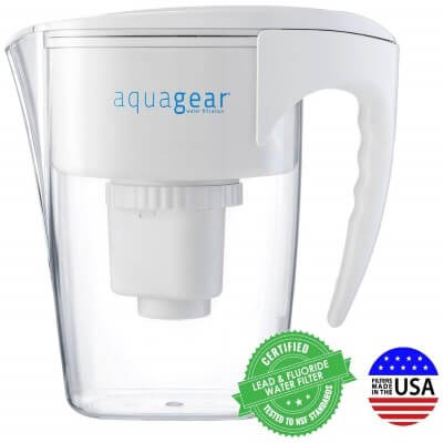 Aquagear Water Filter Pitcher - Fluoride