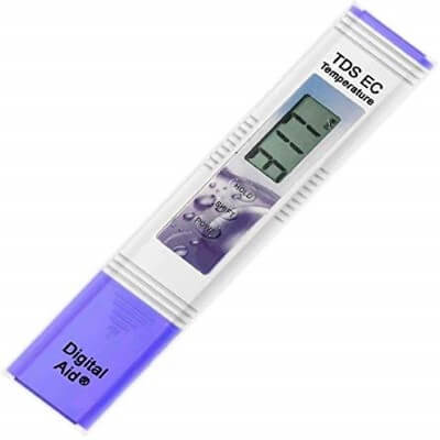 Digital Aid Professional TDS, EC & Temperature Meter. 3 in 1