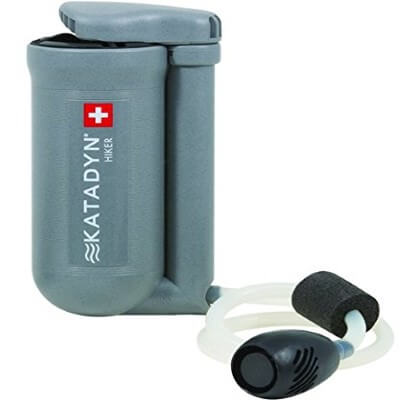 Katadyn Hiker Water Filter - best portable water filter for backpacking