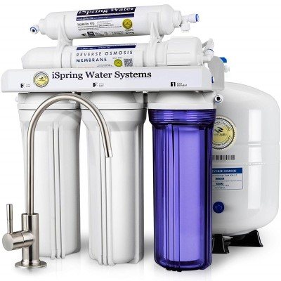 iSpring 5-Stage Prestige Top Purity Under Sink Reverse Osmosis Drinking Water Filter System WQA Gold Seal Certified