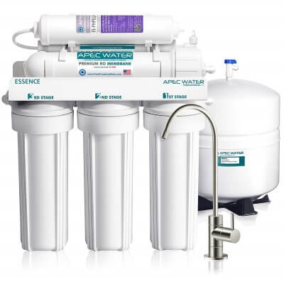 APEC Top Tier Alkaline Mineral pH+ 75 GPD - best undersink water filters