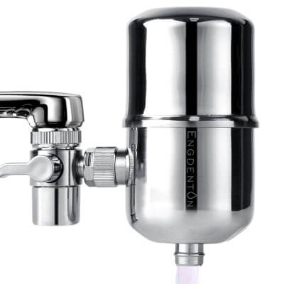 Engdenton Faucet Water Filter Stainless-Steel Reduce Chlorine High Water Flow