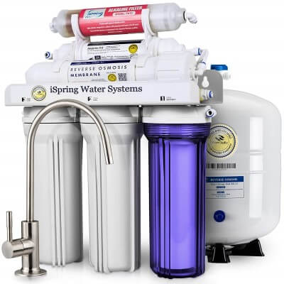 iSpring 6-Stage Superb Taste High Capacity - best reverse osmosis system for apartment
