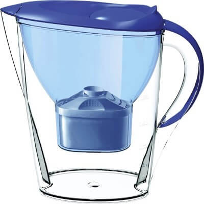Premium Great Tasting Alkaline Water Pitcher with Filter - Lake Industries Patented 7 Stage System