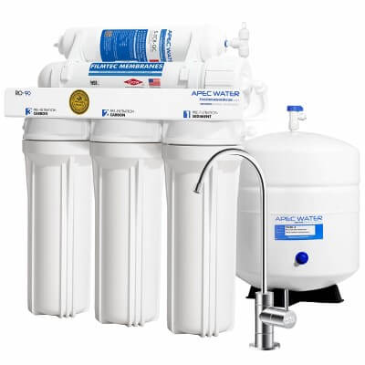 APEC Water Systems RO-90 Ultimate - best water filter for lead removal