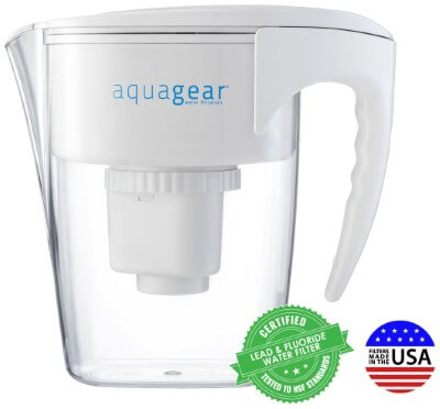 Aquagear Water Filter Pitcher - reviews of best water filter for removing chloramine