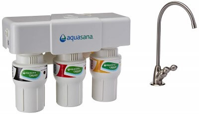 Aquasana 3-Stage Under Sink Water - best water filter for lead removal