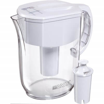 Brita Large 10 Cup Water Filter Pitcher - best water filter pitcher for lead removal