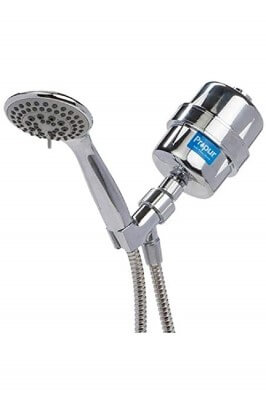 Propur Shower Filter ProMax Chrome Plus with Massage Head and 48 Stainless Steel Flex Hose