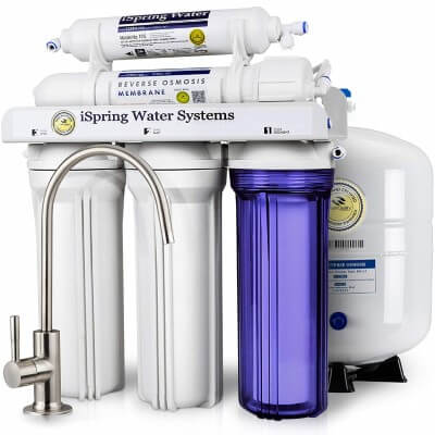 iSpring RCC7 High Capacity Under Sink 5-Stage - best under sink water filter lead removal