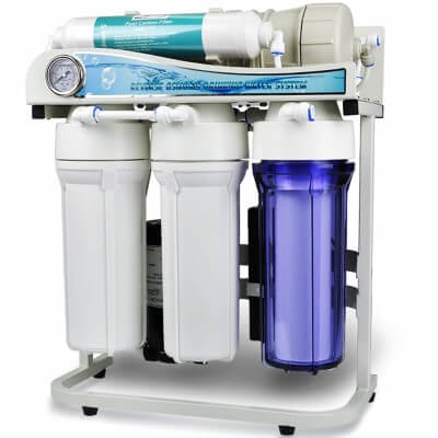 iSpring RCS5T 500 GPD High Flow Residential and Light Commercial Tankless Reverse Osmosis Water Filter System
