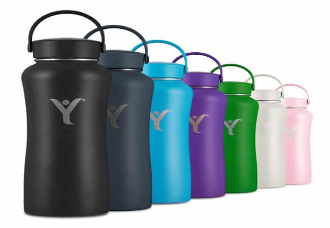 DYLN Insulated Water Bottle, 32 oz (950 mL) - best alkaline water in glass bottles