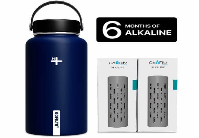 GOFILTR Alkaline Water Bottle Hydration Kit - best alkaline water bottle reviews