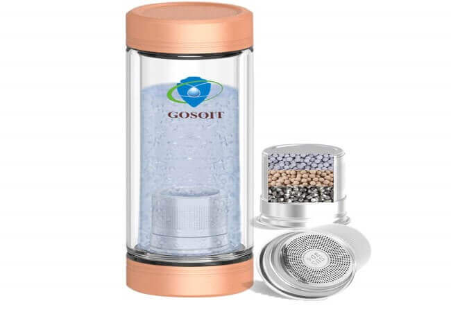 GOSOIT Hydrogen Alkaline Water Bottle - best alkaline water bottles 2020