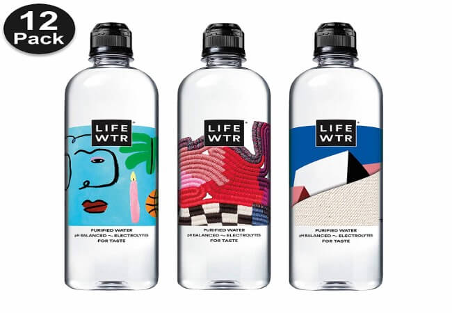 LIFEWTR Premium Purified Water, pH Balanced with Electrolytes For Taste, 23.7 Fl Oz Flip Cap Bottles, 700 mL