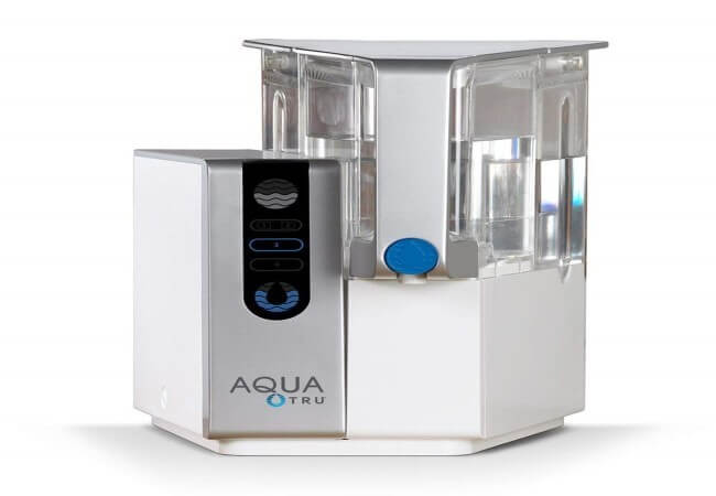 AQUA TRU Countertop Water Filtration Purification System with Exclusive 4 - Stage Ultra Reverse Osmosis Technology