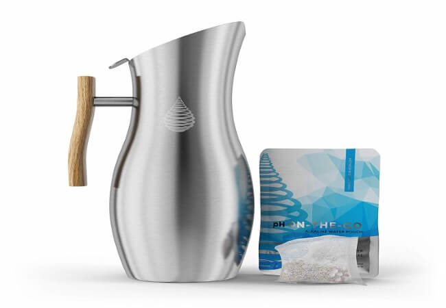 Invigorated Water pH Vitality Stainless Steel- best alkaline water pitcher filter