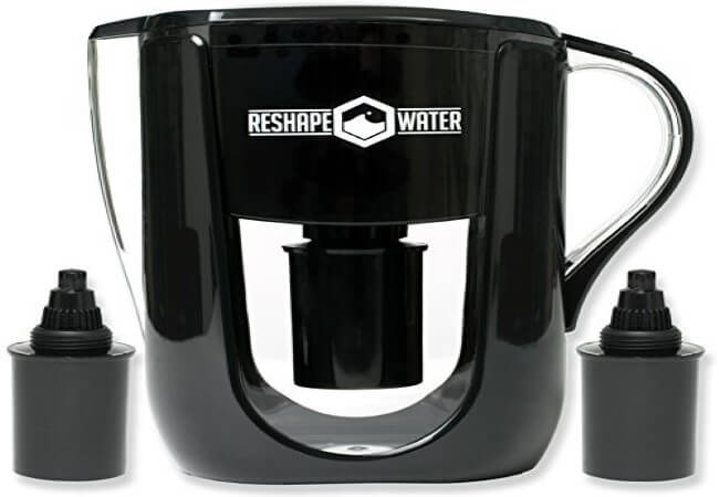 Reshape Water Pitcher With Two 75 Day Filters - best alkaline water filter pitchers for home